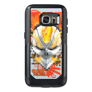 Ghost Rider Skull Badge OtterBox Samsung Galaxy S7 Case