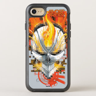 Ghost Rider Skull Badge OtterBox Symmetry iPhone 7 Case