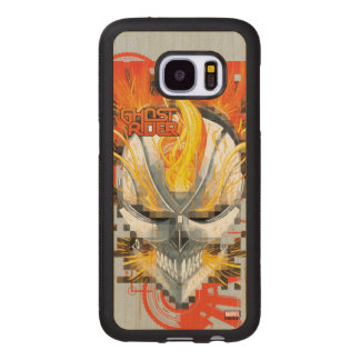 Ghost Rider Skull Badge Wood Samsung Galaxy S7 Case
