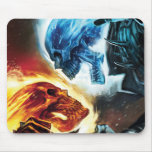 Ghost Rider Vs. Blue Ghost Rider Mouse Pad