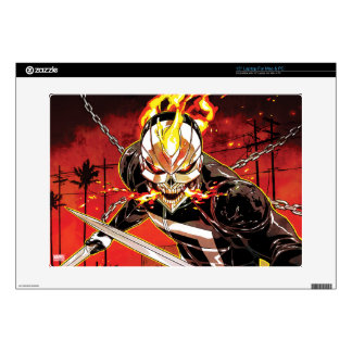 "Ghost Rider With Knives 15"" Laptop Skin"
