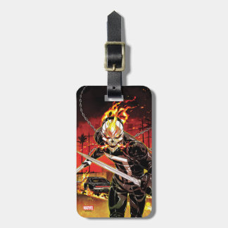 Ghost Rider With Knives Bag Tag