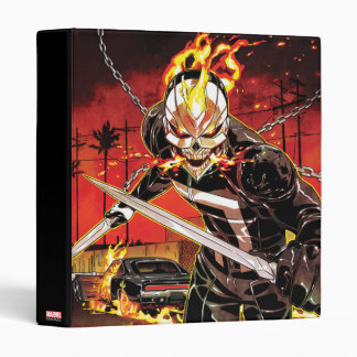 Ghost Rider With Knives Binder