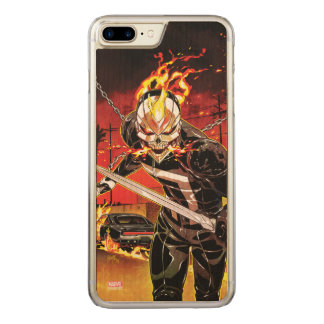 Ghost Rider With Knives Carved iPhone 7 Plus Case