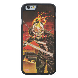 Ghost Rider With Knives Carved Maple iPhone 6 Case