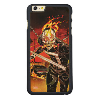 Ghost Rider With Knives Carved Maple iPhone 6 Plus Slim Case
