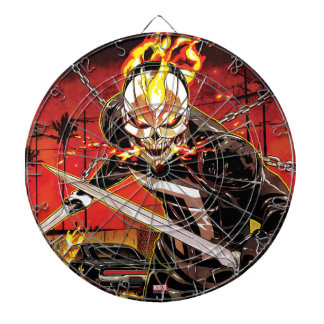 Ghost Rider With Knives Dartboard