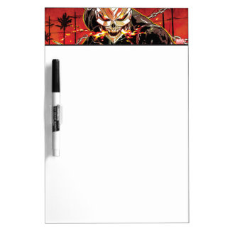 Ghost Rider With Knives Dry Erase Board