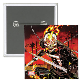 Ghost Rider With Knives Pinback Button