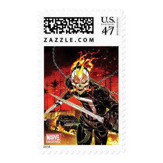 Ghost Rider With Knives Postage