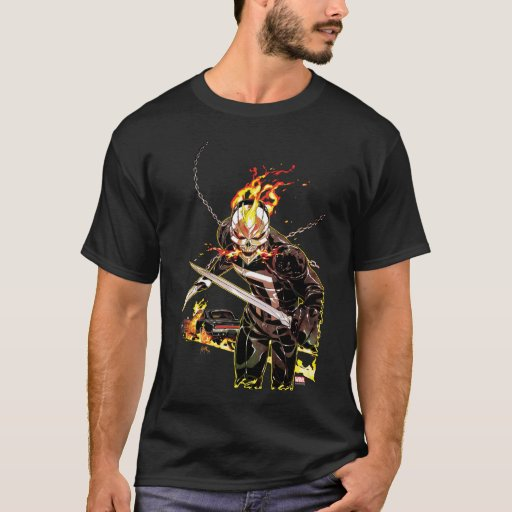 Ghost Rider With Knives T-Shirt