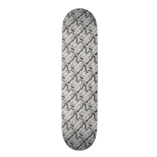 Ghost Rose Climbing a Chain Link Fence Seamless Pa Skateboard Deck