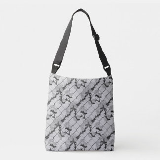 Ghost Rose Climbing a Chain Link Fence Seamless Pa Tote Bag