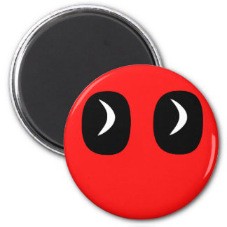 ghost rounded eyes custom background color magnet