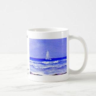 Ghost Sails CricketDiane Ocean Art Coffee Mug