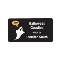 Ghost saying boo! Halloween kitchen label Address Label