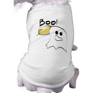 Ghost Says Boo Halloween petshirt