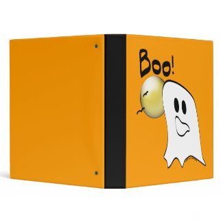 Ghost Says Boo Halloween Notebook binder