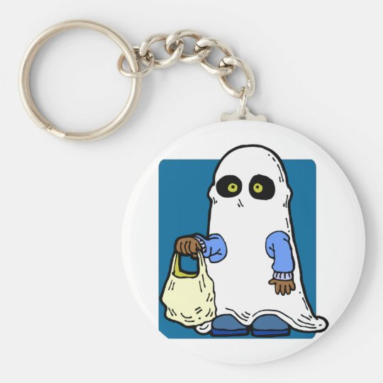 Ghost Sheet Costume Keychain