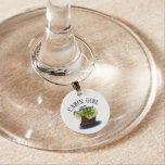 Ghost Ship - Cabin Girl Wine Glass Charm