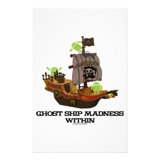 Ghost Ship Madness Within (Developer Bug Droid) Customized Stationery