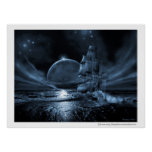Ghost ship series: Full moon rising Print