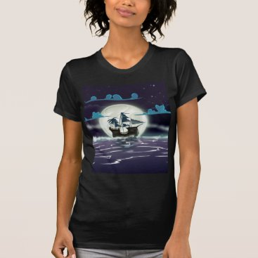 bartonleclaydesign Ghost Ship T-Shirt