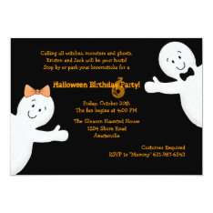 Ghost Siblings Halloween Party Invitation at Zazzle