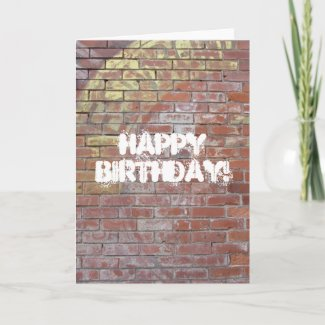 Ghost Sign, Happy Birthday! card