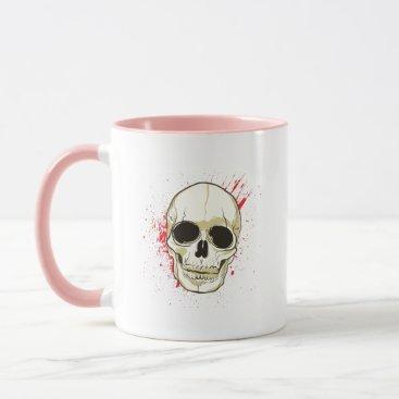 Halloween Themed Ghost Skull Face Halloween Spooky Gif Mug