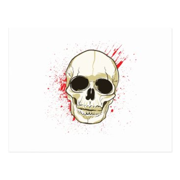 Halloween Themed Ghost Skull Face Halloween Spooky Gif Postcard