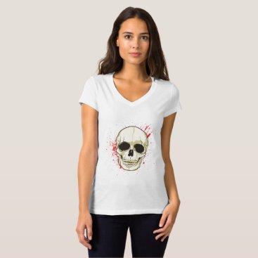 Halloween Themed Ghost Skull Face Halloween Spooky Gif T-Shirt