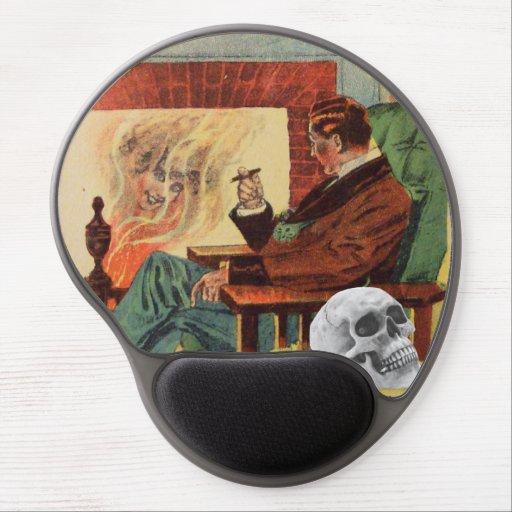 Ghost Skull Man Pipe Fire Spirit Gel Mousepad