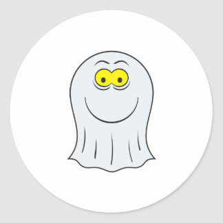 Ghost Smiley Face Sticker