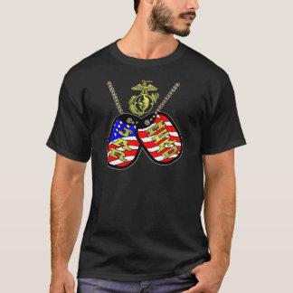 Ghost Sniper Jarhead American Flag Dog Tags T-Shirt