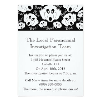 Ghost Society Investigation Card