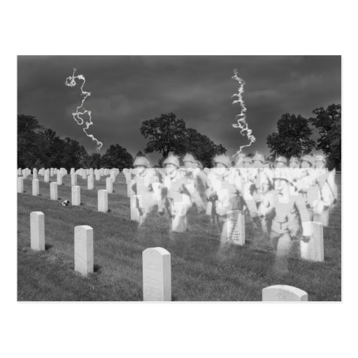 Ghost Soldiers at Jefferson Baracks Post Card