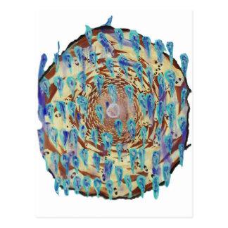 Ghost spiral postcard
