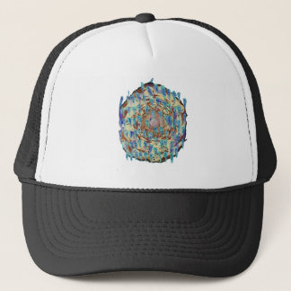Ghost spiral trucker hat