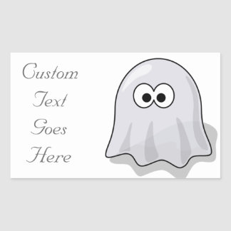 Ghost - Spooky Haunted Rectangular Sticker