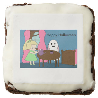 Ghost Tea Party Chocolate Brownie