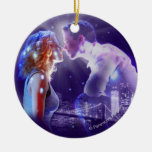 GHOST - The Musical Logo Double-Sided Ceramic Round Christmas Ornament