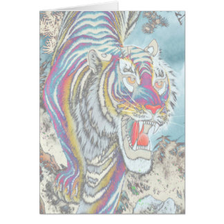 Ghost Tiger Blank Full-Color Card Vertical