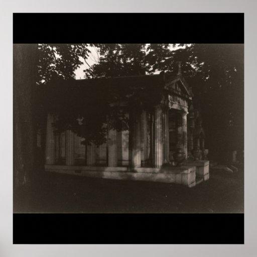 Ghost Tomb Distance B&W Photograph Fine Art Print