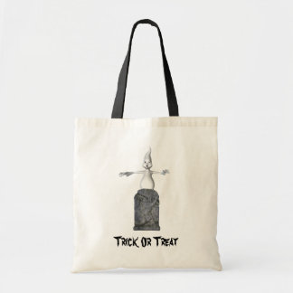 Ghost Tombstone Halloween Funny Tote Bag