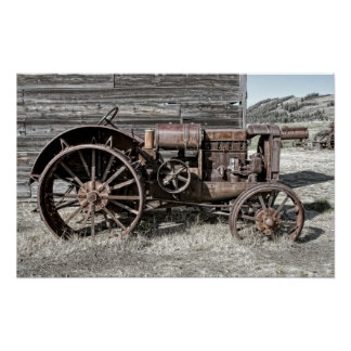 GHOST TOWN FARM TRACTOR POSTER