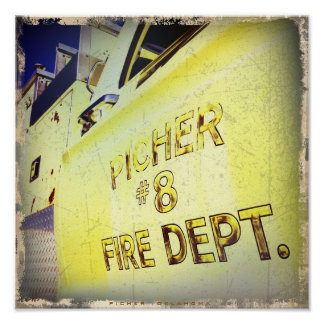 Ghost Town Firetruck Poster
