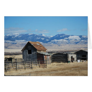 Ghost Town Mountain Scene Snow Card