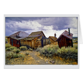 Ghost Town of Bodie California Card