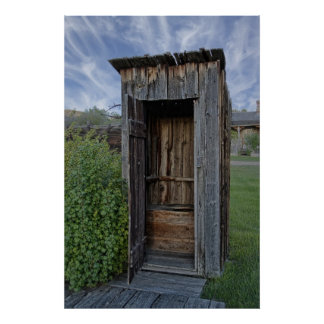Ghost Town Outhouse - Montana Posters